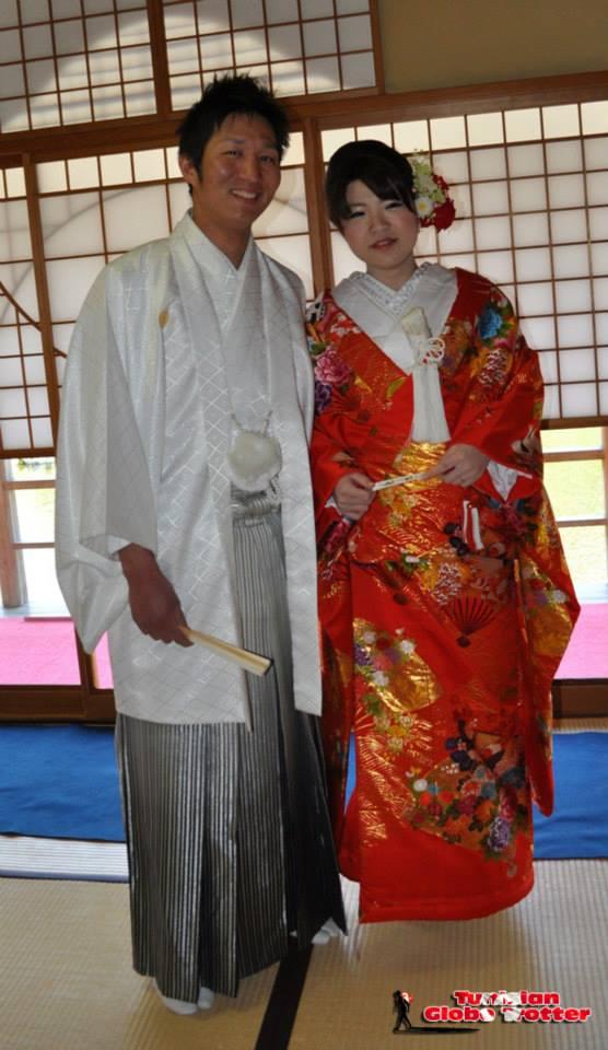 jeunes mariés japonais