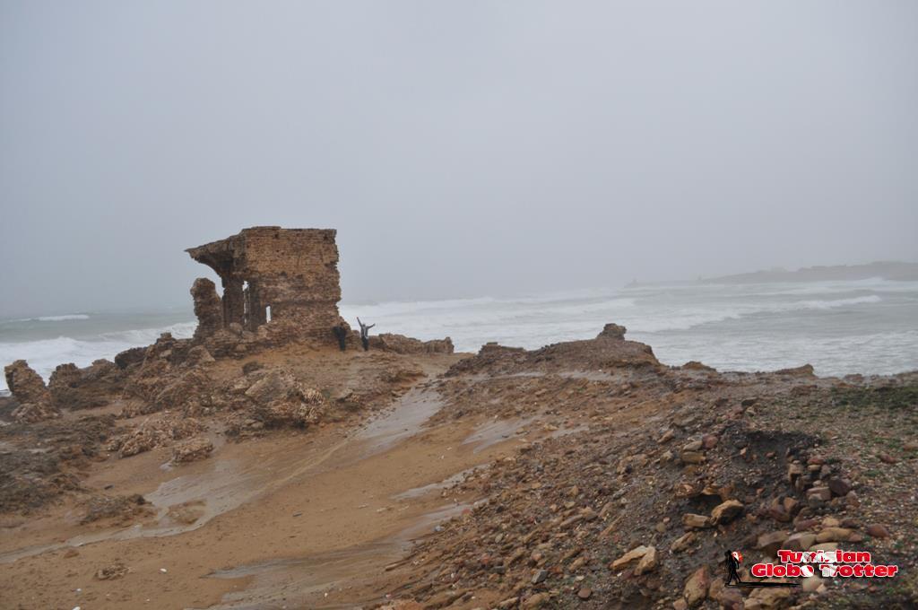 Plage Sidi mechreg sous la pluie