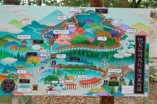 Carte Fushimi Inari
